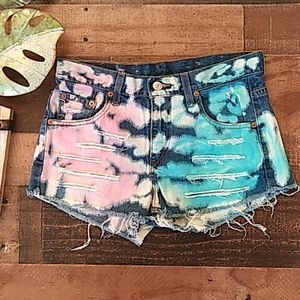 Furst of a kind Levi Tie Dyded Shorts